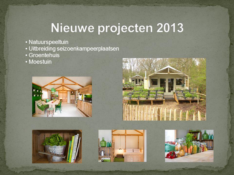 Natuurspeeltuin Uitbreiding seizoenkampeerplaatsen Groentehuis Moestuin