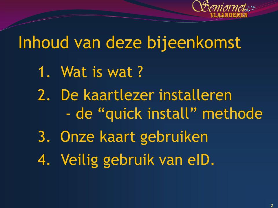 13 Quick Install 1 2 3 http://eid.belgium.be/nl