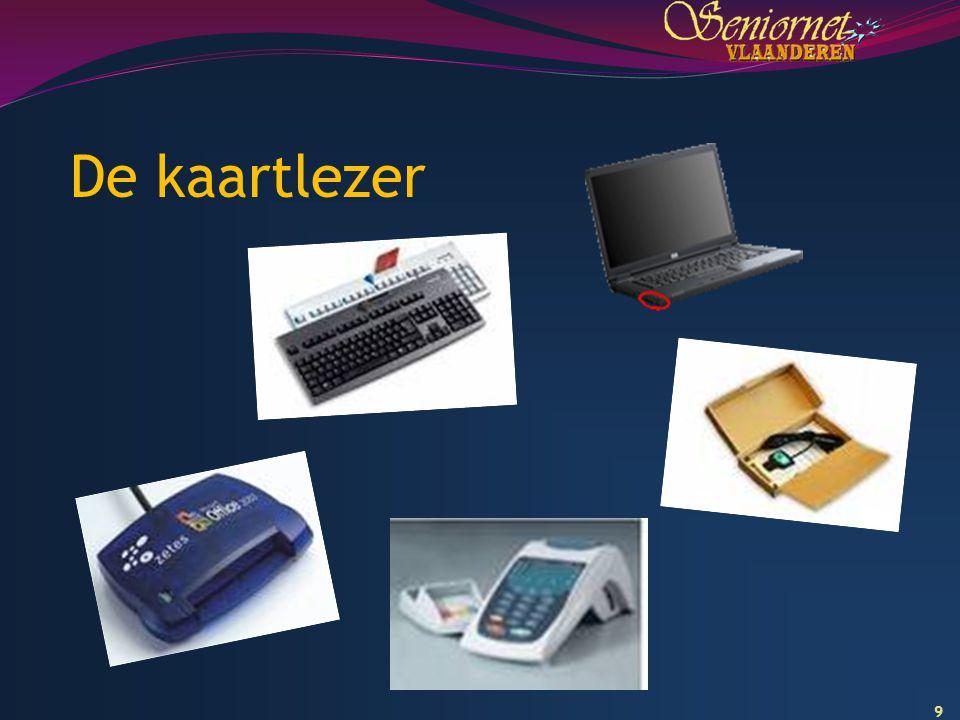 10 De kaartlezer installeren (1) - Alles over kaartlezers: www.cardreaders.bewww.cardreaders.be -Installatieprocedure verschilt volgens het OS van de computer