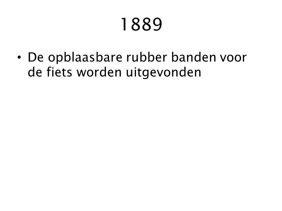 1880 Aandrijving met ketting waardoor de fiets terug normale afmeting krijgt zoals we hem nu kennen