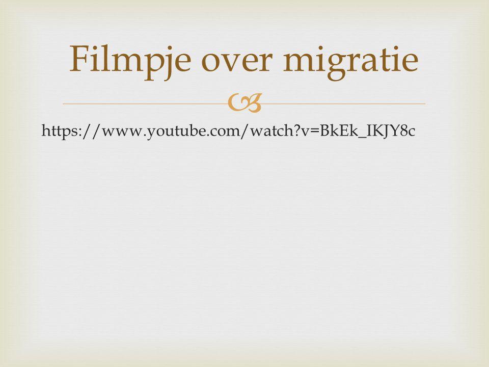  https://www.youtube.com/watch?v=BkEk_IKJY8c Filmpje over migratie