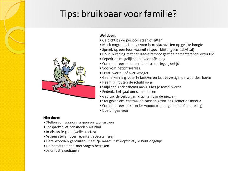 Tips: bruikbaar voor familie?