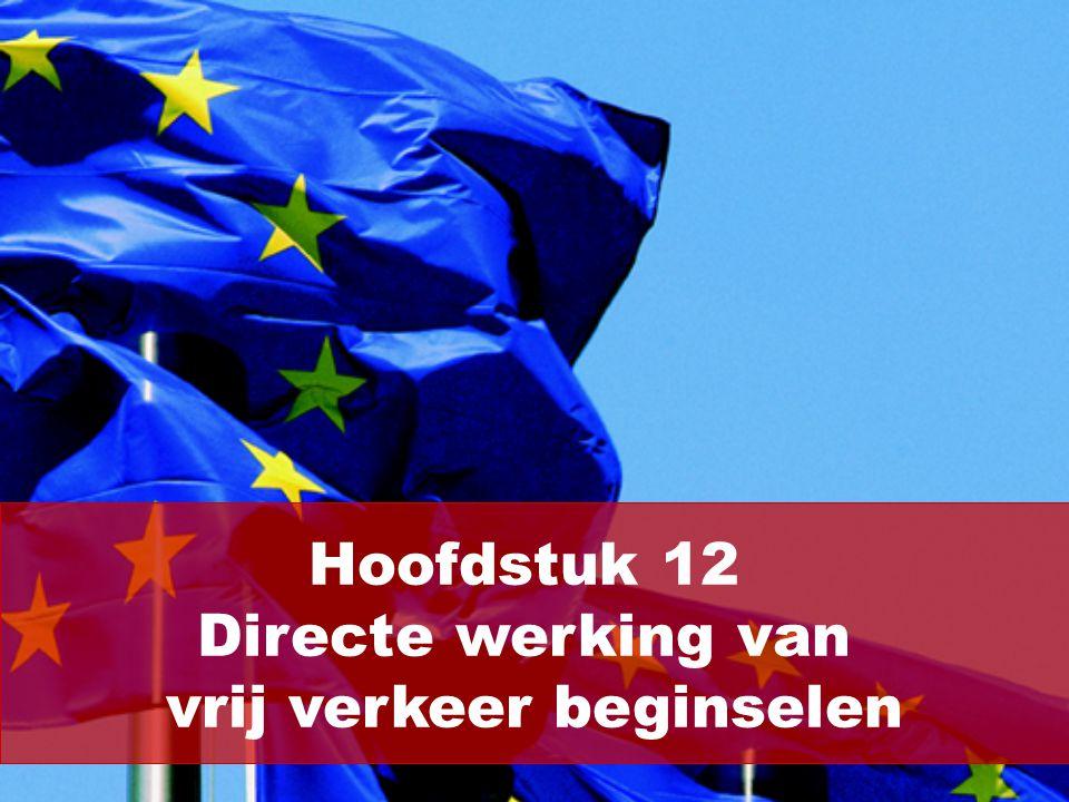 (2/10) Er bestaan vier vrij verkeer beginselen: Vrij goederenverkeer: de artikelen 25, 28, 29 en 90.