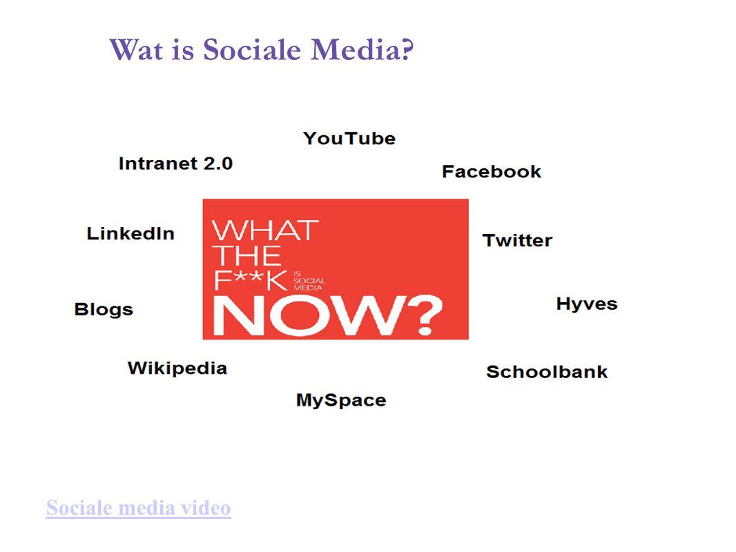 Wat is Sociale Media? Sociale media video