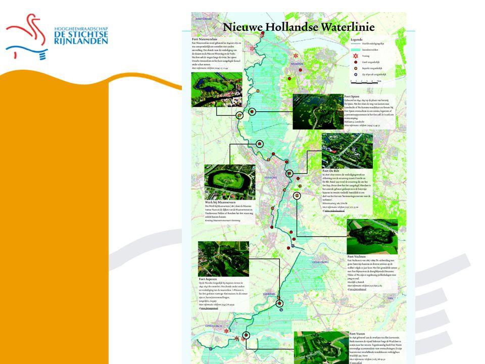 Militair concept NHW inundatiegebied hoofdweerstandslijn Te verdedigen gebied
