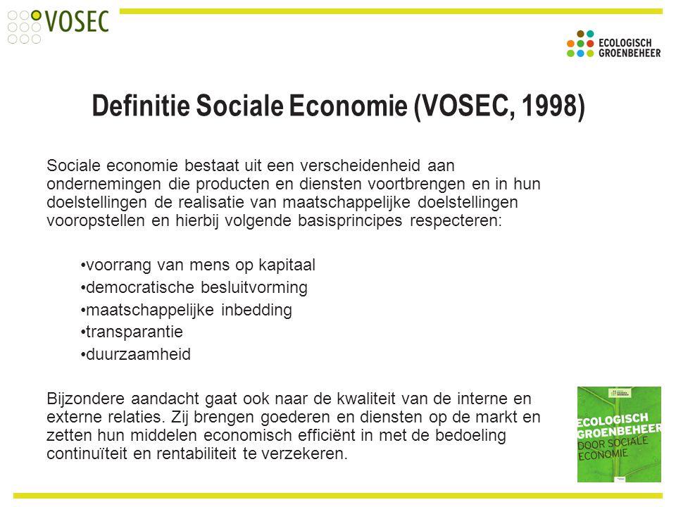 Sociale economie bestaat uit een verscheidenheid aan ondernemingen die producten en diensten voortbrengen en in hun doelstellingen de realisatie van m