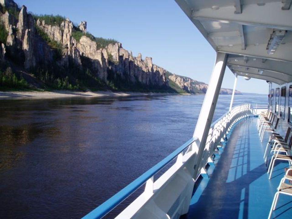 De Lena-rivier, nabij Yakutsk