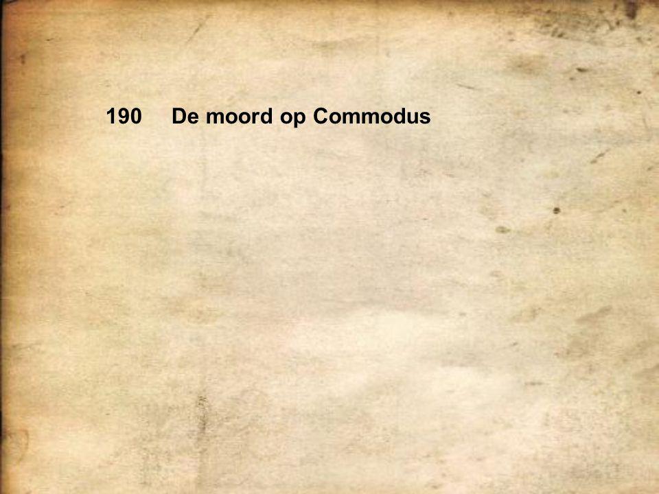 190De moord op Commodus