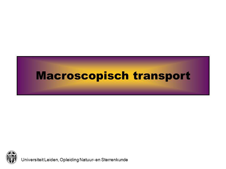 Universiteit Leiden, Opleiding Natuur- en Sterrenkunde Macroscopisch transport