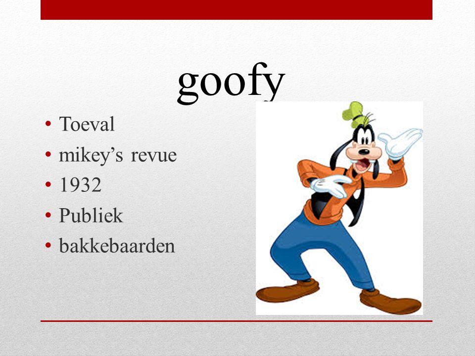 Toeval mikey's revue 1932 Publiek bakkebaarden goofy