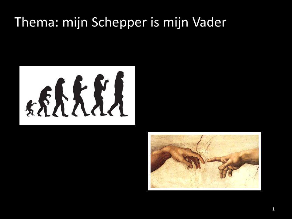 Thema: mijn Schepper is mijn Vader 1