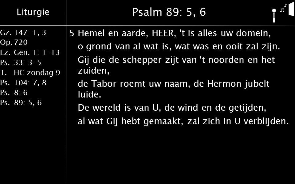 Liturgie Gz.147: 1, 3 Op.720 Lz.Gen.