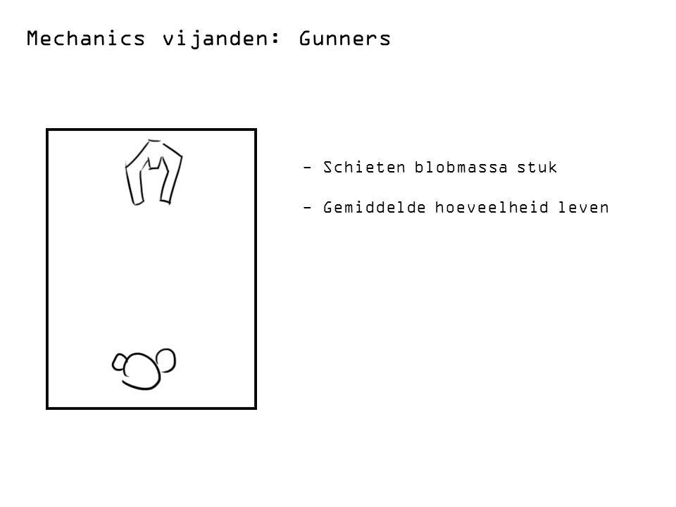 Mechanics vijanden: Gunners - Schieten blobmassa stuk - Gemiddelde hoeveelheid leven