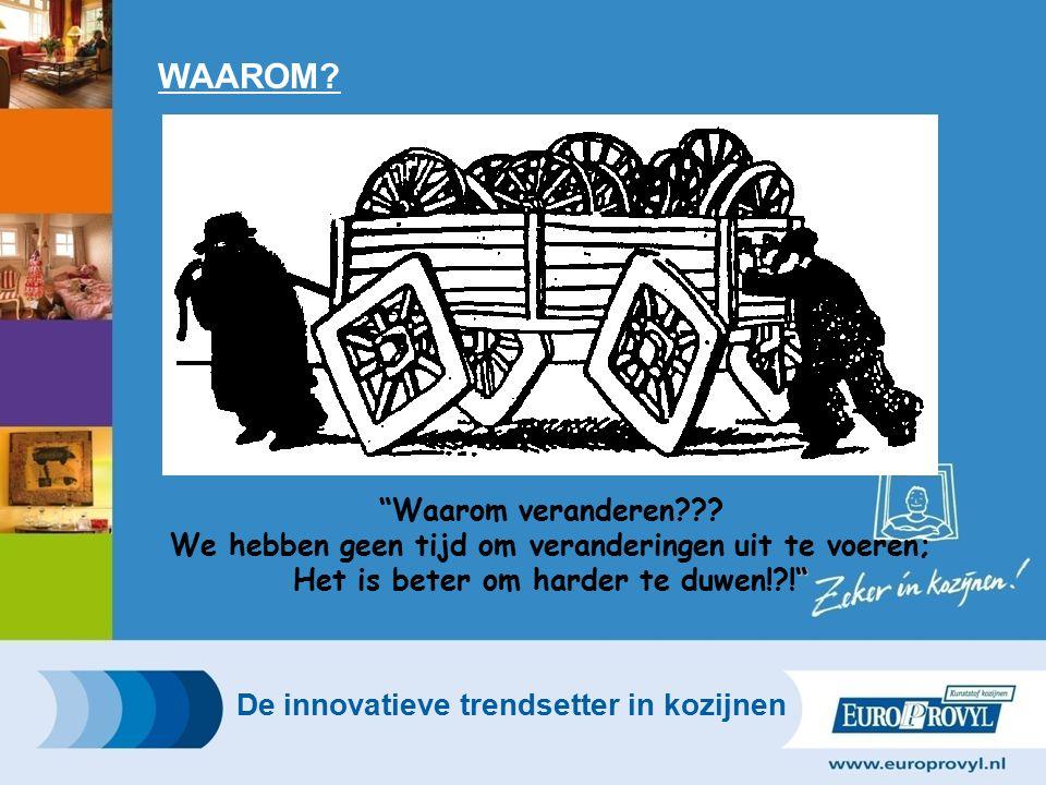WAAROM.De innovatieve trendsetter in kozijnen Waarom veranderen??.