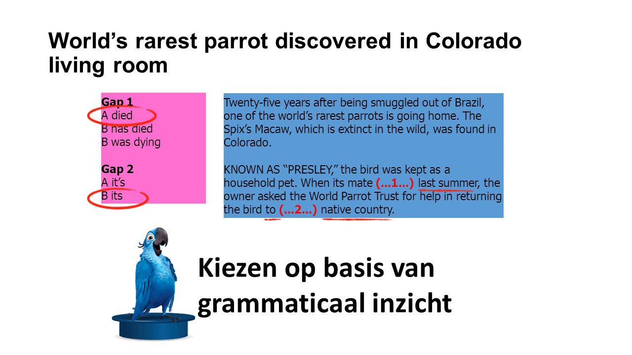 World's rarest parrot discovered in Colorado living room [vervolg] The U.S.