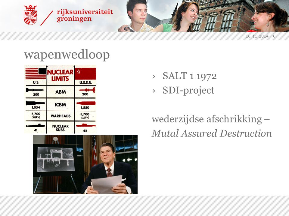 wapenwedloop ›SALT 1 1972 ›SDI-project wederzijdse afschrikking – Mutal Assured Destruction 16-11-2014 | 6