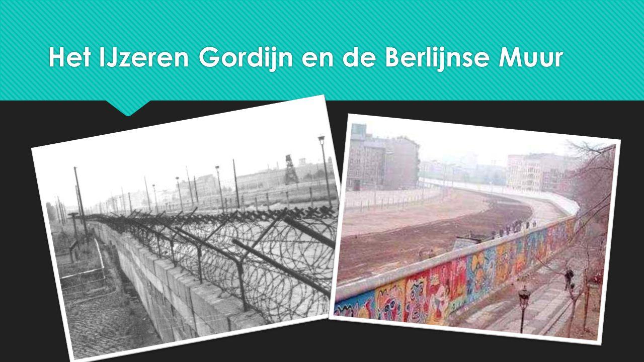Het IJzeren Gordijn en de Berlijnse Muur