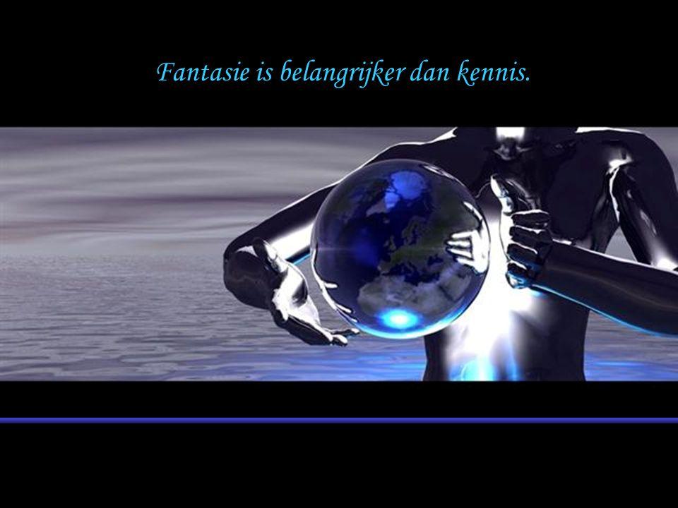 Fantasie is belangrijker dan kennis.