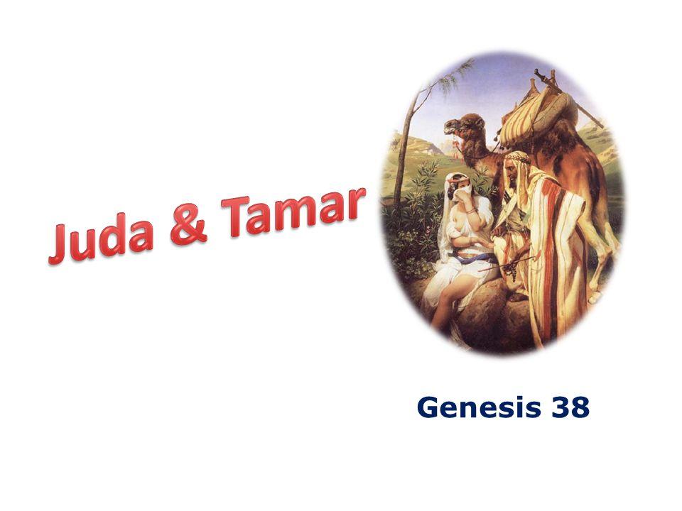 Genesis 38 20 Juda nu zond het geitebokje door bemiddeling van zijn vriend, de Adullamiet, om het pand uit de hand der vrouw in ontvangst te nemen, maar deze trof haar niet aan.