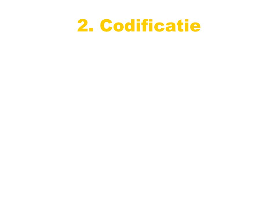 2. Codificatie