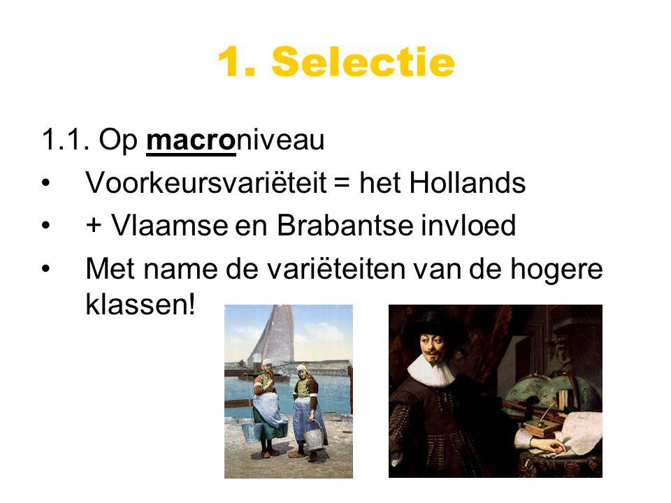 1. Selectie 1.1.