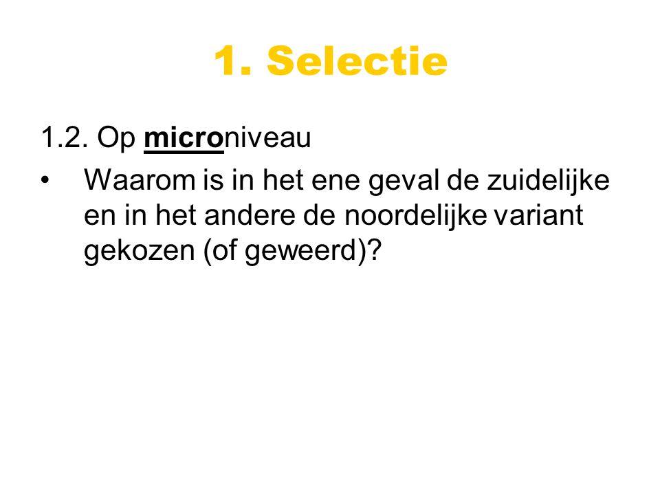 1. Selectie 1.2.