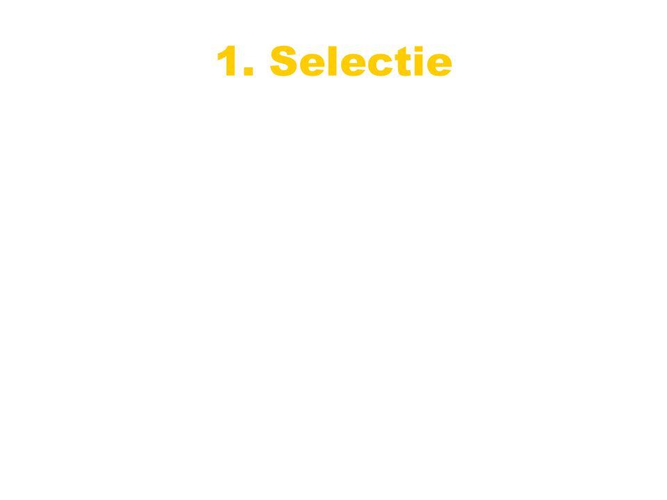1. Selectie