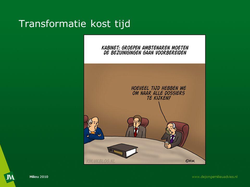Transformatie kost tijd Milieu 2010www.dejongemilieuadvies.nl