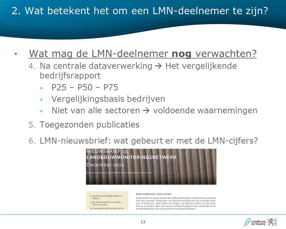 13 Wat mag de LMN-deelnemer nog verwachten. 4.