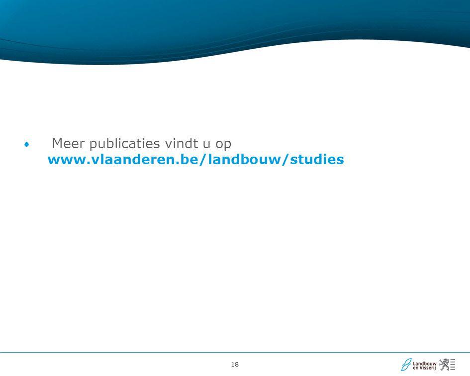 18 Meer publicaties vindt u op www.vlaanderen.be/landbouw/studies