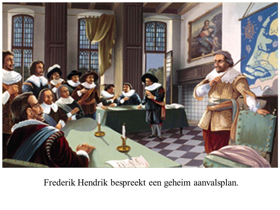 Frederik Hendrik bespreekt een geheim aanvalsplan.