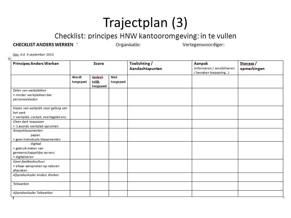 Trajectplan: voorbeeld (4) Voorjaar 2014: 0.