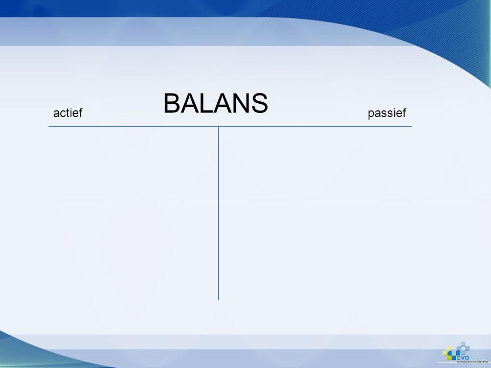 BALANS actiefpassief
