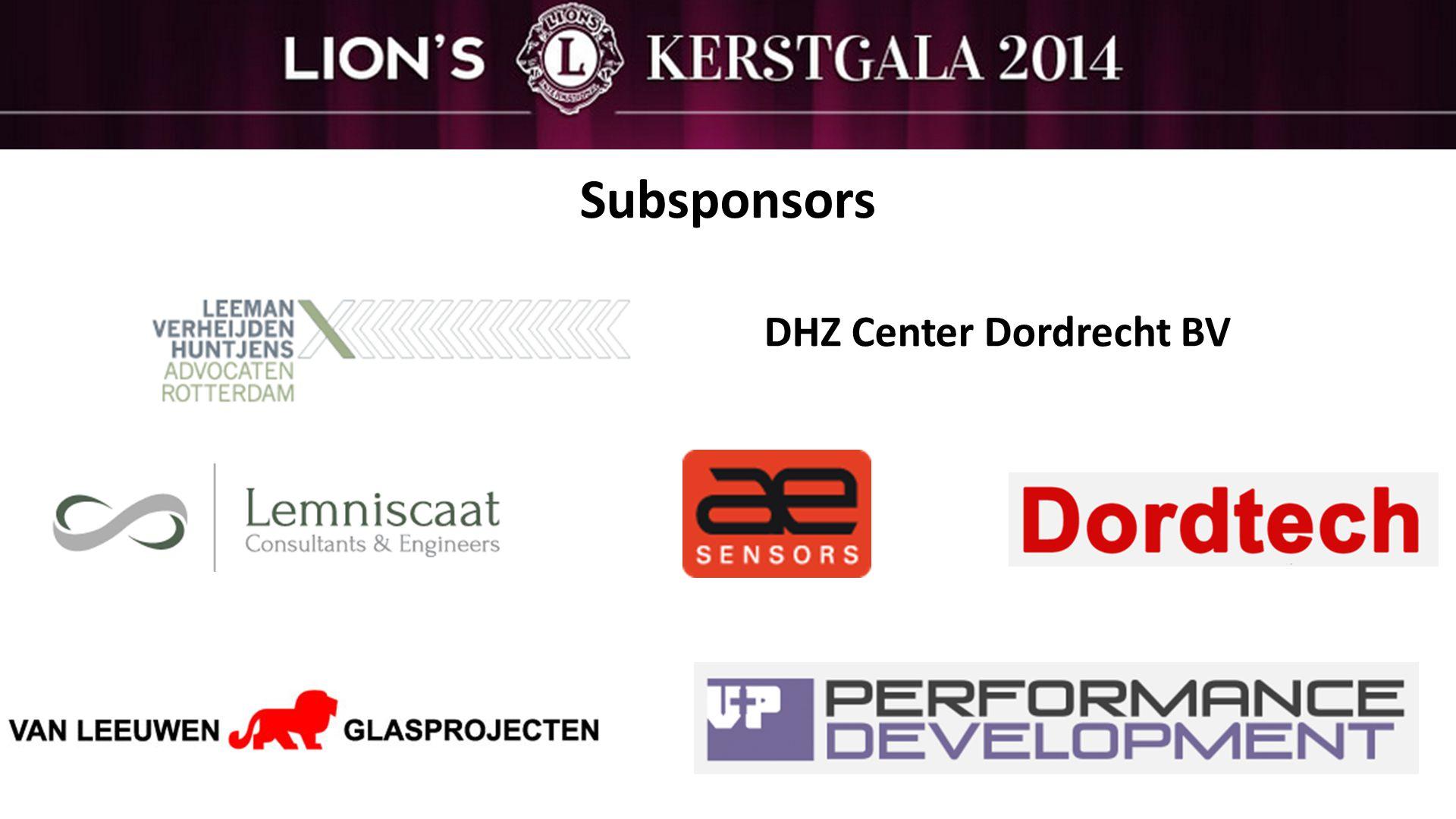 Subsponsors DHZ Center Dordrecht BV