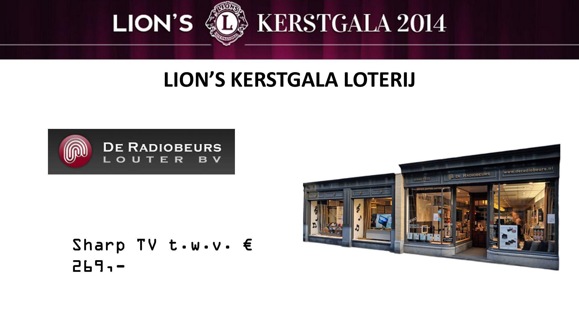 LION'S KERSTGALA LOTERIJ Sharp TV t.w.v. € 269,-
