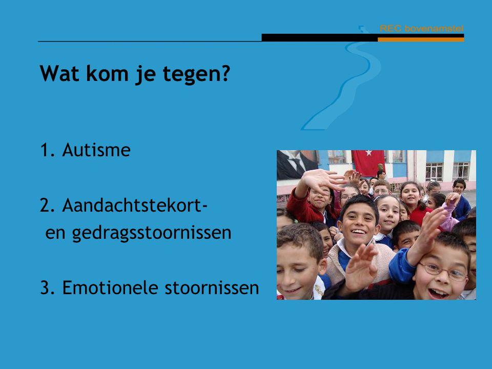 Autisme (PDD-NOS, Asperger) Moeite met: Contact: communicatie, begrijpen van anderen, inleven, rekening houden met anderen.
