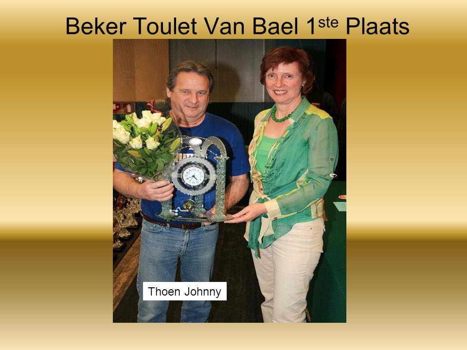 Beker Toulet Van Bael 1 ste Plaats Thoen Johnny