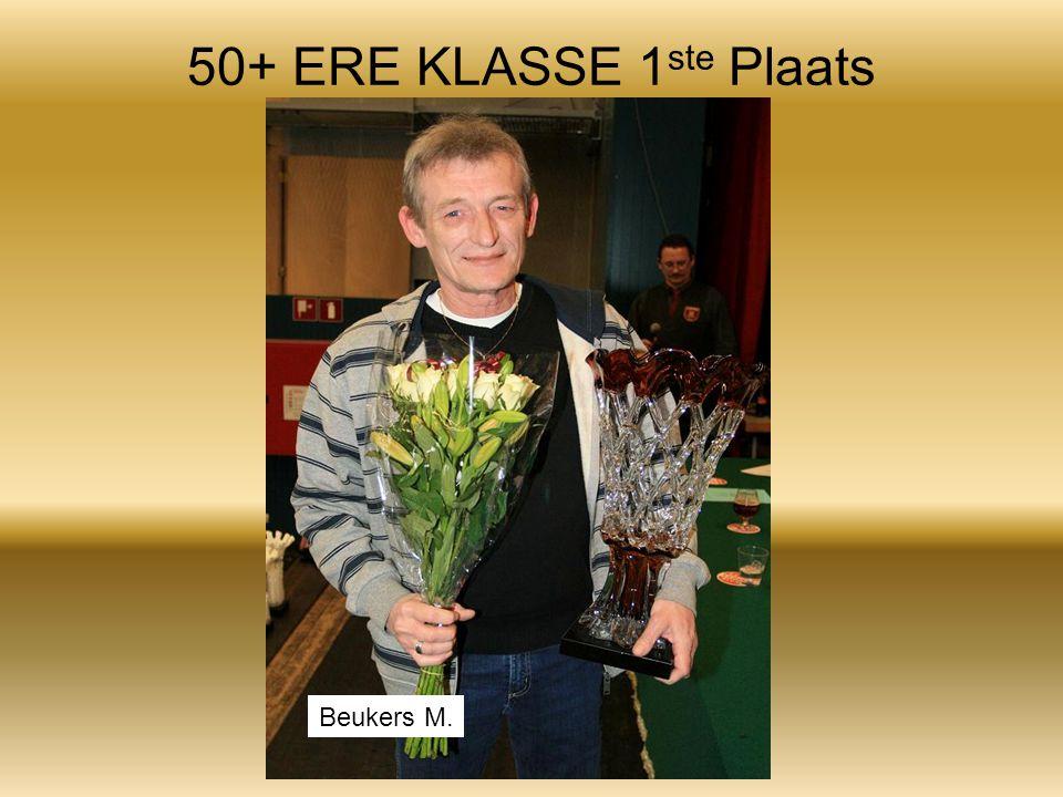 50+ ERE KLASSE 1 ste Plaats Beukers M.