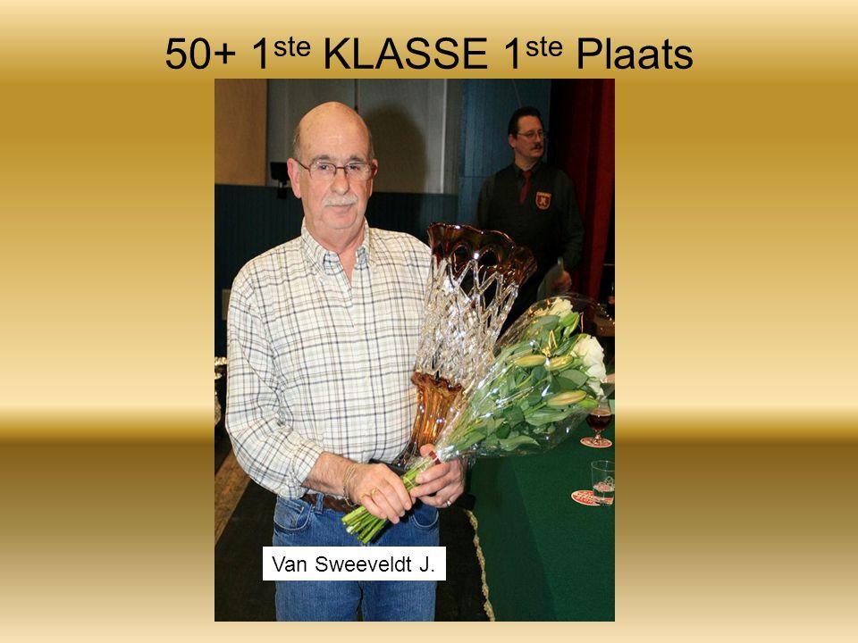 50+ 1 ste KLASSE 1 ste Plaats Van Sweeveldt J.