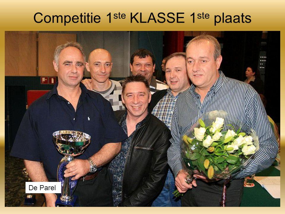 Competitie 1 ste KLASSE 1 ste plaats De Parel
