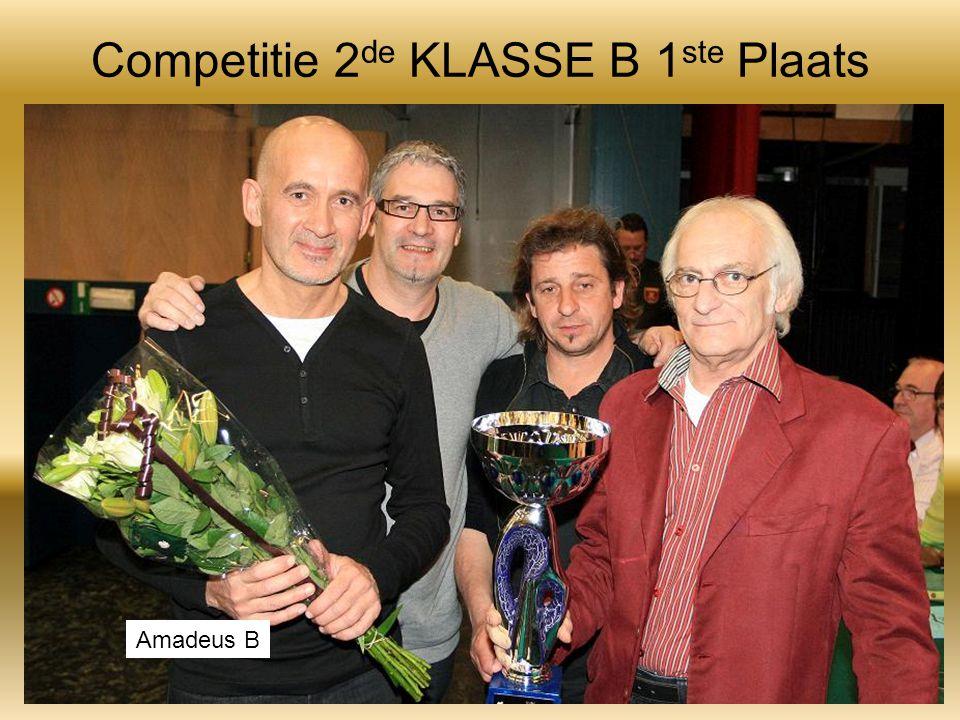 Competitie 2 de KLASSE B 1 ste Plaats Amadeus B