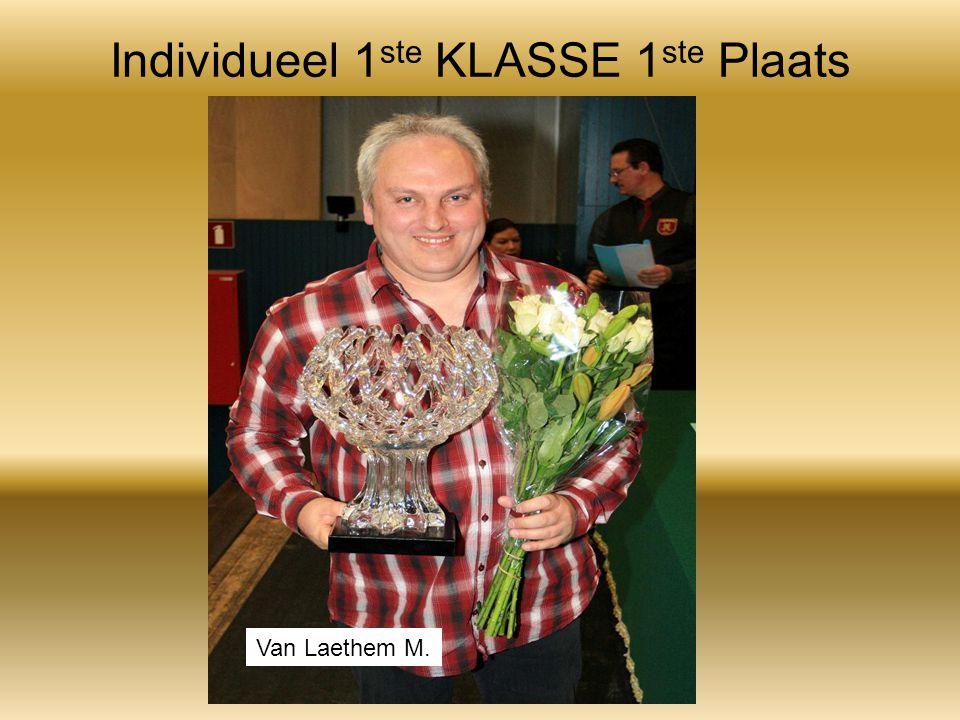 Individueel 1 ste KLASSE 1 ste Plaats Van Laethem M.