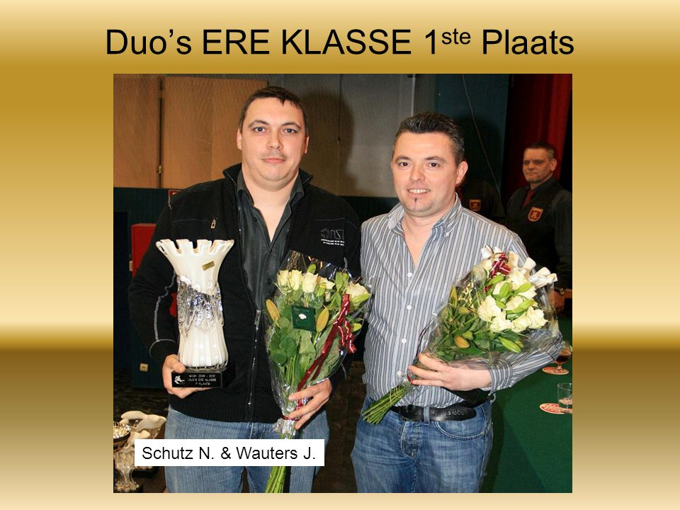 Duo's ERE KLASSE 1 ste Plaats Schutz N. & Wauters J.