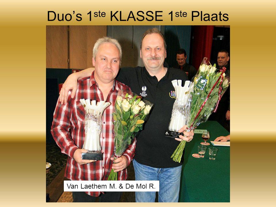 Duo's 1 ste KLASSE 1 ste Plaats Van Laethem M. & De Mol R.