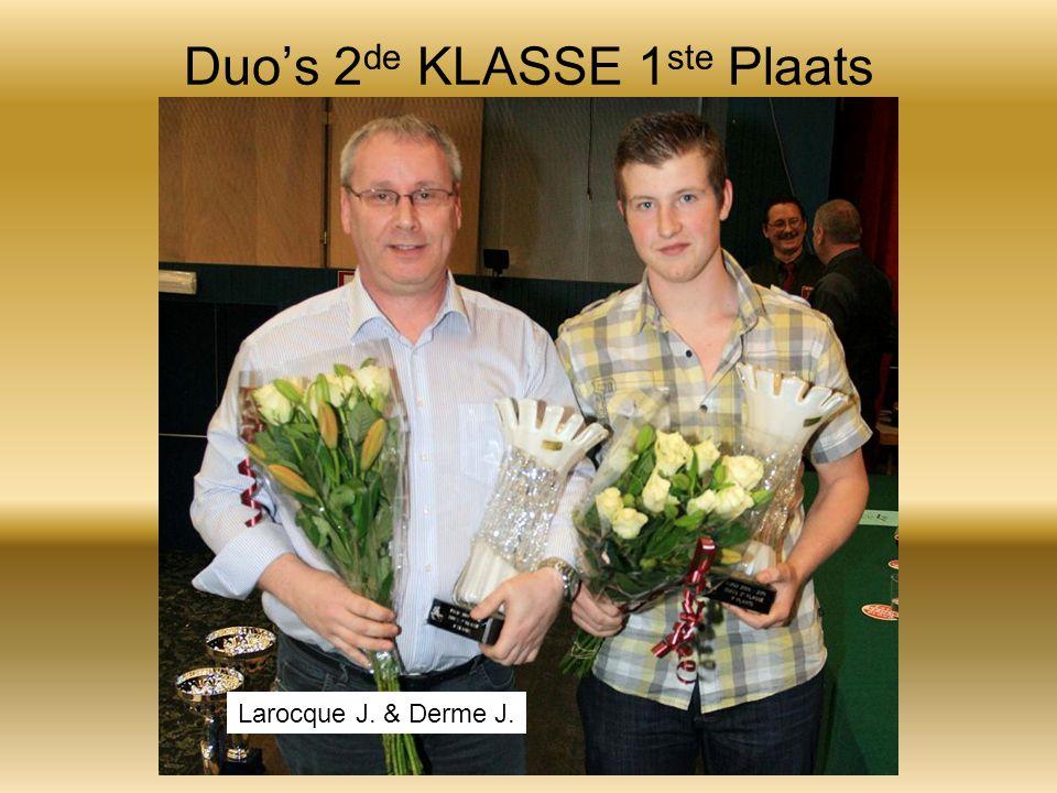 Duo's 2 de KLASSE 1 ste Plaats Larocque J. & Derme J.