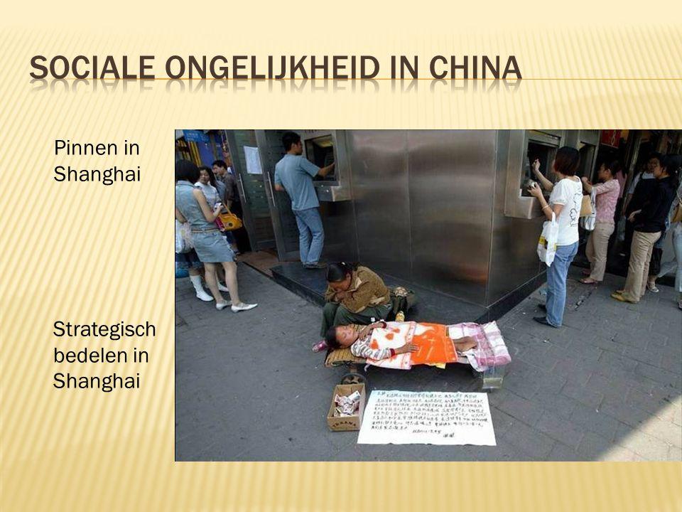Pinnen in Shanghai Strategisch bedelen in Shanghai
