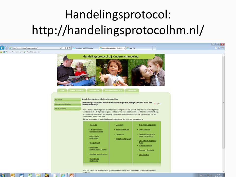 Handelingsprotocol: http://handelingsprotocolhm.nl/