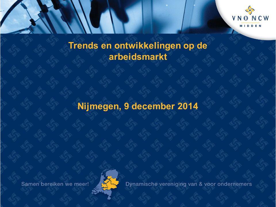 Trends en ontwikkelingen op de arbeidsmarkt Nijmegen, 9 december 2014