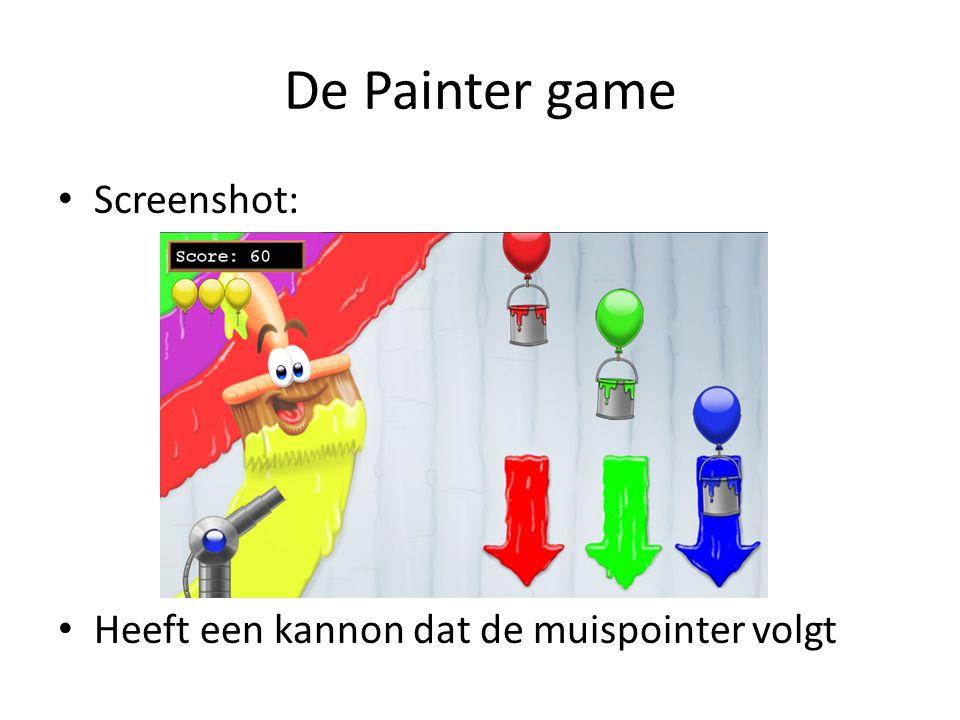 De Painter game Screenshot: Heeft een kannon dat de muispointer volgt