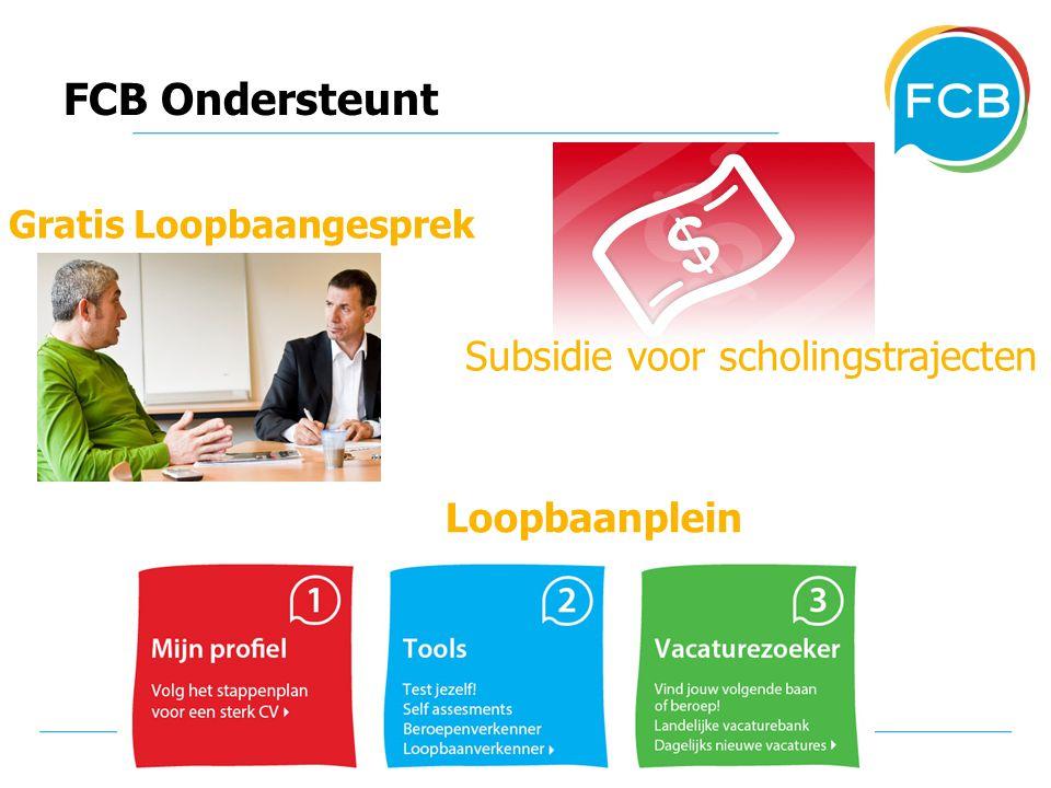 FCB Ondersteunt Gratis Loopbaangesprek Subsidie voor scholingstrajecten Loopbaanplein